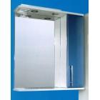 Зеркальный шкаф со светильником №3-60 Ф4 (серо-голубой)
