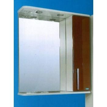 Зеркальный шкаф со светильником №3-60 Ф4 (корица)
