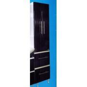 Шкаф - пенал 430 Ф4 (чёрный)