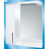 Зеркальный шкаф со светильником №3-75 Ф4 (техно) L/R