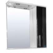 Шкаф навесной зеркальный со светильником №3-60 Ф4 (черный)