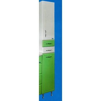 Шкаф - пенал 290 с корзиной Ф3 (зеленый)