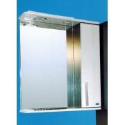 Шкаф навесной зеркальный со светильником №3-60 Ф4 венге