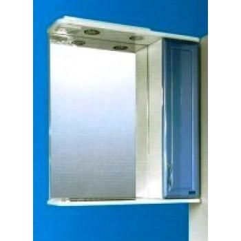 Зеркальный шкаф со светильником №3-65 Ф3 (синий)