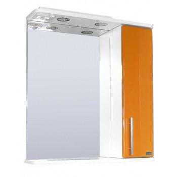 Зеркальный шкаф со светильником №3-60 Ф4 (оранжевый)