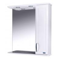 Зеркальный шкаф со светильником №3-75 Ф3 (белый)