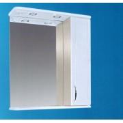 Зеркальный шкаф со светильником №3-60 Ф4 (молочный дуб)
