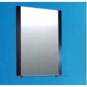 Зеркало настенное со стеклянной полкой (венге)