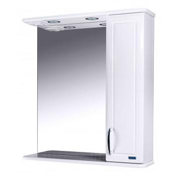 Зеркальный шкаф со светильником №3-60 Ф3 (белый)L/R