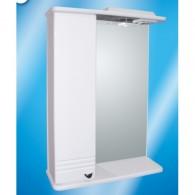 Зеркальный шкаф со светильником №3-50 Ф1 L/R