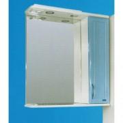 Зеркальный шкаф со светильником №3-60 Ф3 (голубой)