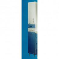 Шкаф - пенал 290 с корзиной Ф3 (синий) левый