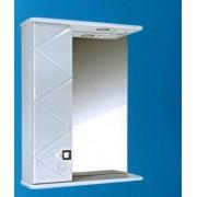 Зеркальный шкаф со светильником №3-55 Ф4 кристалл