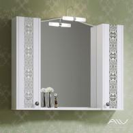 Шкаф зеркальный Elizabeth 100 белый
