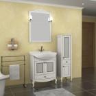 """Комплект мебели """"Флоренция 65 витраж"""" массив ясеня,цвет белый/патина серебро, витраж """"ASB-мебель"""""""