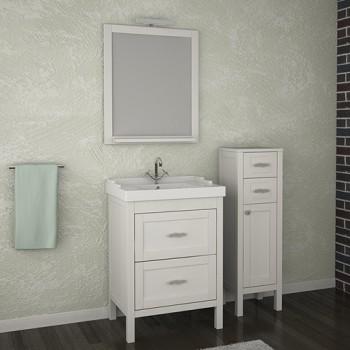 """Комплект мебели """"РИМИНИ 60"""" массив ясеня """"ASB-мебель"""", цвет белый/патина серебро"""
