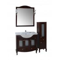 """Комплект мебели для ванной """"Флоренция 105"""" витраж бук тироль"""