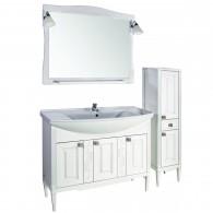 """Комплект мебели """"МОДЕНА - 105"""" массив ясеня, белый/патина """"АСБ - мебель"""""""