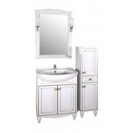 """Комплект мебели """"ВЕРОНА - 65"""" массив ясеня, белый/патина """"АСБ - мебель"""""""