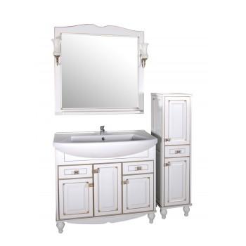 """Комплект мебели """"ВЕРОНА - 90"""" массив ясеня, белый/патина """"АСБ - мебель"""""""