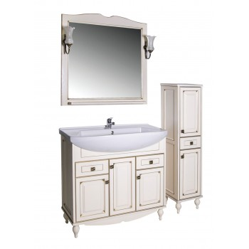 """Комплект мебели """"ВЕРОНА - 90"""" массив ясеня, бежевый/патина """"АСБ - мебель"""""""