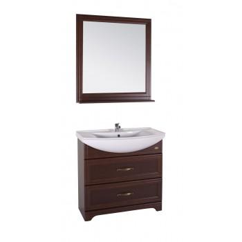 """Комплект мебели """"БЕРТА - 85"""" массив ясеня, цвет темный орех """"АСБ - мебель"""""""