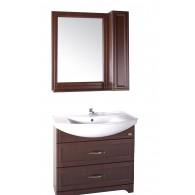 """Комплект мебели """"БЕРТА - 85"""" массив ясеня, цвет темный орех, со шкафчиком """"АСБ - мебель"""""""