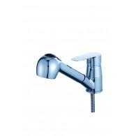 Смеситель для кухни с выдвижной лейкой D80-660119