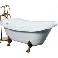 Акриловая ванна Gemy G9030-A фурнитура золото