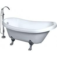 Акриловая ванна Gemy G9030-C фурнитура хром