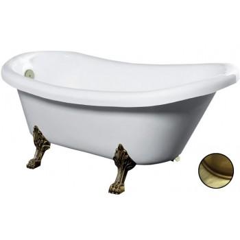 Акриловая ванна Gemy G9030 D фурнитура ,бронза