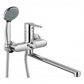 Смеситель для ванны и душа с длинным изливом 350 мм. Gross Aqua 7213278С-35L(F) MODERNA