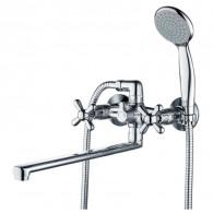 Смеситель для ванны и душа с длинным изливом Gross Aqua 7016083С-35L(F) - Н RETRO