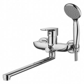 Смеситель для ванны и душа с длинным изливом GROSS AQUA 7121297С-35L(F) Evo