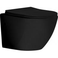 Унитаз Grossman GR-4411 Black подвесной черный глянцевый, безободковый