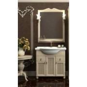 Комплект мебели для ванной комнаты ТИБЕТ 70 Opadiris (слоновая кость) витраж