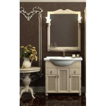 Комплект мебели для ванной комнаты ТИБЕТ 80 Opadiris (слоновая кость) решетка