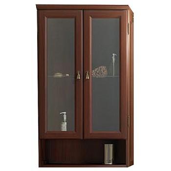 Шкаф подвесной двухстворчатый для ванной комнаты КЛИО 60 (орех антикварный) Opadiris
