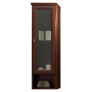 Шкаф подвесной одностворчатый для ванной комнаты КЛИО 30 (орех антикварный) Opadiris