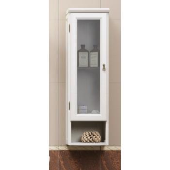Шкаф подвесной одностворчатый для ванной комнаты КЛИО 30 (белый) Opadiris