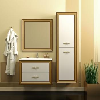 Комплект мебели Карат 80 золото подвесной (МДФ) Opadiris