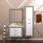 Комплект мебели Карат 80 серебро (подвесной) Opadiris
