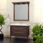 Комплект мебели для ванной комнаты Корлеоне 100 Opadiris (светлый орех с патиной)