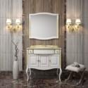 Комплект мебели для ванной комнаты ЛАУРА 100 (белый с золотой патиной) Opadiris