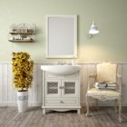 Комплект мебели для ванной комнаты ОМЕГА 65 (слоновая кость) Opadiris