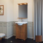 Комплект мебели для ванной комнаты КАРЛА 55 (итальянский орех, нагал) Opadiris
