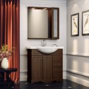 Комплект мебели для ванной комнаты КАРЛА 85 (итальянский орех) Opadiris