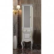 Пенал для ванной комнаты ЛАУРА 44 белый с бежевой патиной Opadiris (левый/правый)