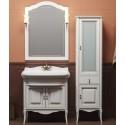 Комплект мебели для ванной комнаты ЛОРЕНЦО 100 (белый с бежевой патиной) Opadiris