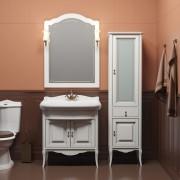 Комплект мебели для ванной комнаты ЛОРЕНЦО 100 (белый) Opadiris